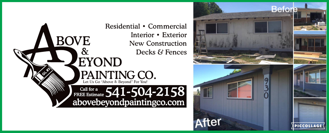 Above & Beyond Painting Co., LLC is a Painting Company in Redmond, OR