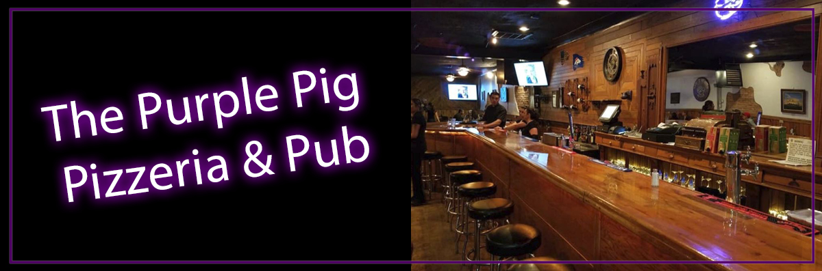 The Purple Pig Pizzeria & Pub is a Pizza Restaurant in Alamosa, CO