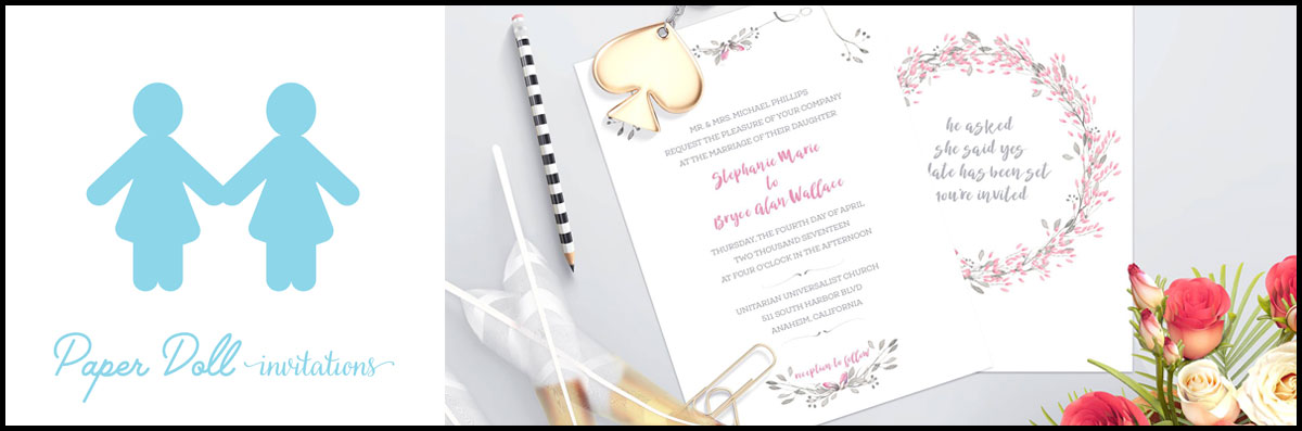 Paper Doll Invitations is an Invitation Printing Service in Carlsbad, CA
