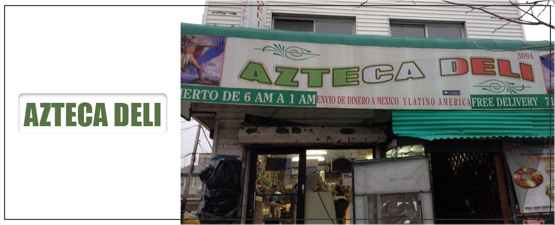 Azteca Deli is a Deli in Brooklyn, NY