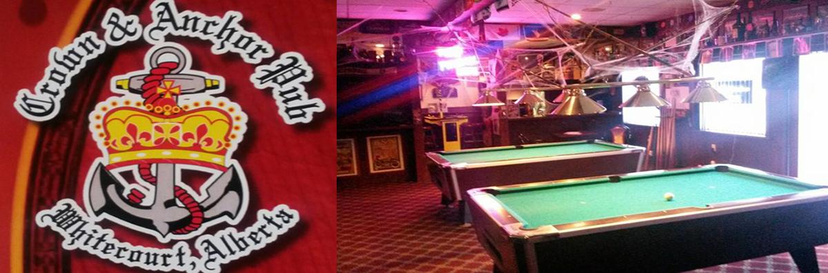 Crown & Anchor Pub is a Restaurant in Whitecourt, AB