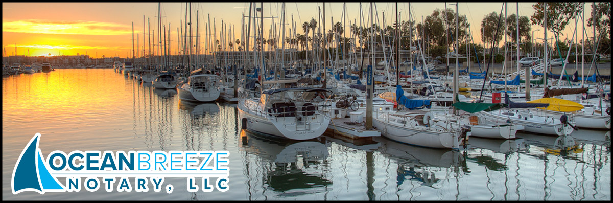 Ocean Breeze Notary, LLC is a Mobile Notary in Marina del Rey, CA